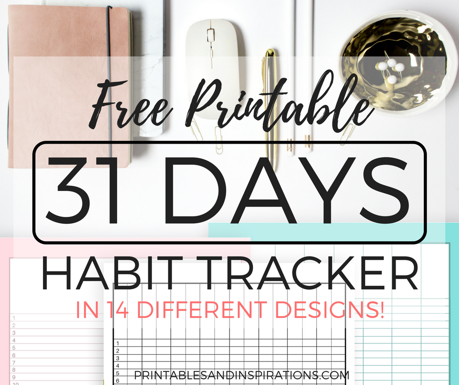 free printable habit tracker, monthly tracker, use as an expense tracker, add to your budget binder or teacher binder, daily checklist